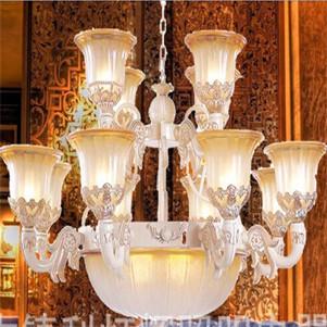 豪华欧式吊灯 客厅酒店餐厅装饰工程酒店水晶灯5月